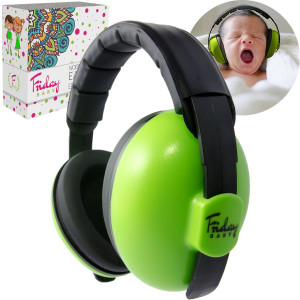 FridayBaby Newborn Baby Ear Protection - Comfortable and Adjustable Noise Cancelling Headphones for Babies and Infants | Baby Headphones Noise Reduction (0-2+ Years) for Concerts, Fireworks and Travels
