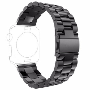 For Apple Watch Band,iWatch Band,Qiandy Stainless Steel Replacement Strap for Apple Watch Series 1 Series 2 Series 3 (Black, 38mm)