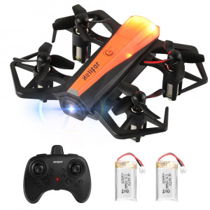 HELIFAR H802 Mini RC Drone Nano Quadcopter Drone for Kids and Beginners with Auto Hovering, 3D Flip, Altitude Hold, LED Light Toys for Boys and Girls (2 Batteries)