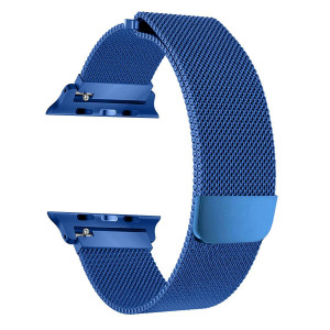 ZGS for Watch Band 38mm, Stainless Steel Milanese Loop with Adjustable Magnetic Closure Replacement iWatch Band for iWatch Series 3 Series 2 Series 1(Navy Blue,38mm)