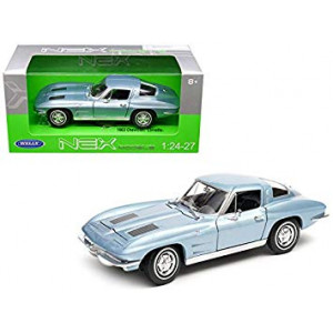 Welly 1963 Chevrolet Corvette Metallic Light Blue 1/24-1/27 Diecast Model Car by 24073BL
