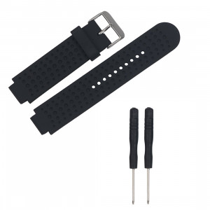 for Garmin Forerunner 25(Men's) Replacement Band, AWADUO Replacement Silicone Wrist Band Strap for Garmin Forerunner 25 Large Watch, Soft and Durable(Silicone Black)