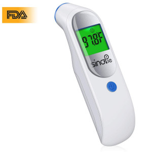 Baby Forehead Thermometer, Digital Infrared Medical Thermometer - FDA Approved Non Contact Digital Thermometer for Baby, Kids, Infant and Adults (Blue)