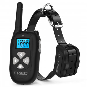 FRiEQ Dog Training Collar Remote Control Waterproof Rechargeable with Tone/Vibration / Electric Shock Modes for Small Medium Large Dogs