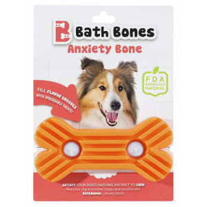 Bath Bones | Anxiety Bone | FDA Approved | Combats Dog's Anxiety During Stressful Events | Simply Spread, Stick and Lick