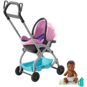 Barbie Skipper Babysitters Inc. Pink Stroller Playset