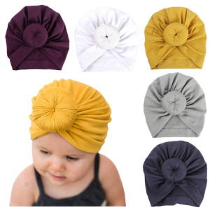 Newborn Baby Cotton Cloth Turban Toddler Rabbit Hospital Hat Ear Hat Kids Set Head Cap