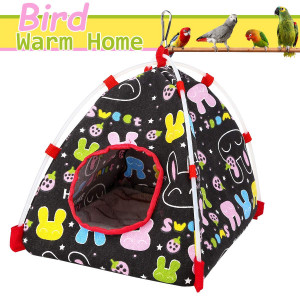 Aigou Bird toys, Bird Hammock, Parrot Hanging Tent, Bird Nest House Bed, Parrot Habitat Cave Hanging Tent, Intelligence and Physique Improvement Cage Decor for Small and medium Animals Parrot