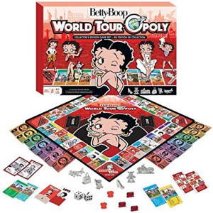 MasterPieces Betty Boop World Tour-Opoly Board Game