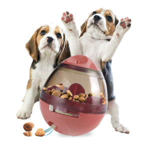 TabEnter Pet Tumbler Slow Feeder, Combine the Function of Playing and Eating, Adjustable Channel Size to Fit Any Pet Food, Make Your Pets More Energetic