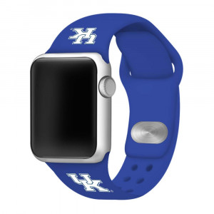 Affinity Bands Kentucky Wildcats Blue Silicone Sport Band Compatible with Apple Watch - Band ONLY (42mm/44mm Blue)