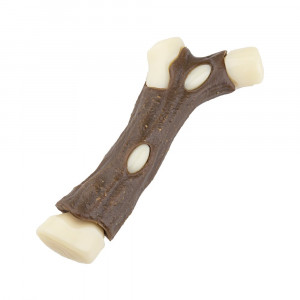 Yikou Dog Bone Chew Toy Dog Chew Toy Dental Snack with Cowhide and Nylon Resin Chicken Wing Shape Chewing Treat Toy for Puppy and Aggressive Dog