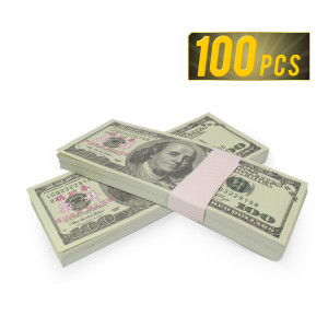 ELM Game Prop Money Play Money Pretend $10,000 Full Print Money Copy of $100 Dollar Bills Stack, for Movie, TV, Videos, Pranks, Birthday Party, Play Board Games, Photography