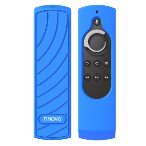 TiMOVO 5.9'' All-New Fire TV 4K / Fire TV Stick Alexa Voice Remote Control Case, Lightweight Shockproof Protective Silicone Cover Smart TV Remote Dust-proof Sleeve Shell, Blue