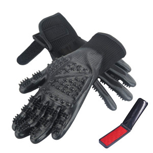 CICINY Cat Grooming Glove - Pet Grooming Glove for Cats and Dogs Horse Rabbit Hair Removal - De-Shedding Gloves for Pet Dog Cat Bathing or Massaging - Small Animal Grooming Kit Tools Supplies