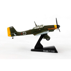 Postage Stamp PS5339-4 Junkers JU 87 Stuka 1:110 Scale Diecast Display Model with Stand