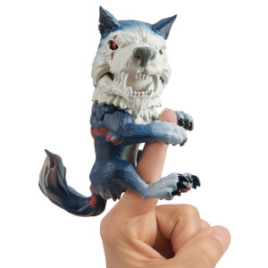 Untamed Dire Wolf by Fingerlings  Midnight (Black and Red)  Interactive Collectible Toy  By WowWee