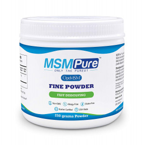Kala Health MSMPure Fine Powder, Fast Dissolving Crystals, 8.8 ozs, Pure MSM Organic Sulfur Supplement for Joints, Muscle Soreness, Immune Support and Beauty, Skin,Hair and Nails. Made in USA