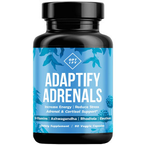 Adrenal Support and Cortisol Manager - Natural Adrenal Fatigue and Health Supplement with Organic Ashwagandha, Complete B Vitamin Complex, Rhodiola Rosea, Siberian Ginseng - B5 B6 B12 Supplements