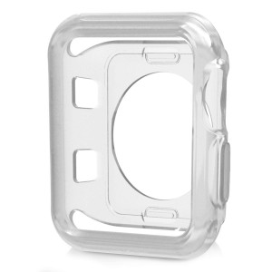JuziTech Compatible Apple Watch Case 42mmShock-Proof and Shatter-Resistant Protector Bumper iwatch Case Compatible Apple Watch Series 3/2/1,Nike+,Sport,Edition (Clear, 42mm)