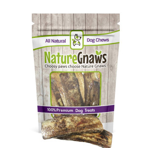 Nature Gnaws Roasted Beef Ribs (6 Count) - 100% Natural Chew Bones for Dogs