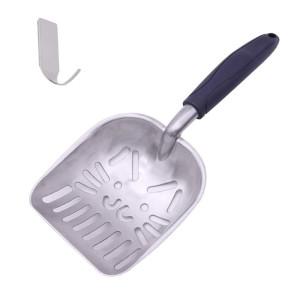 GUEQUITLEX Cat Litter Scoops Sifter Deep Shovel Non Stick Solid Aluminum Alloy Cat Litter Scooper Jumbo Size a Free Hook