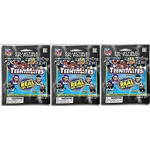Party Animal NFL TeenyMates Series 6 Figurines - Lot of 3 Mystery Packs