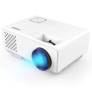 Projector, Spacekey RD-815 LED Mini Video Projector for Multimedia Home Theater, Supports 1080P, Laptops, Smartphones, Amazon Fire TV Stick and DVDs via HDMI, USB, VGA and AV
