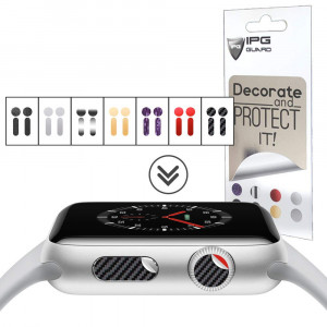 IPG for Apple Watch Crown DOT and Side Button, 28 Decals (14 DOTS + 14 Side Buttons) 7 Sticker Vinyl Cover