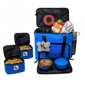 Our Sincerest Dog, Cat and Puppy Travel Bag: Carrier for Pet Accessories. Airline Approved. Carriers Come with 2 Tote Bags and 2 Collapsible Bowl. Suitable for Small, Medium and Large Dogs and Cats.