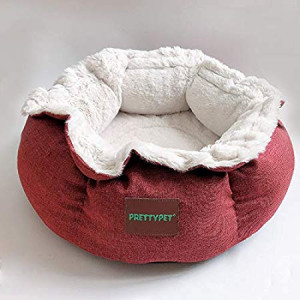 CWAY Cat Bed and Dog Bed, Comfy Pet Bed for Puppy or Kitty