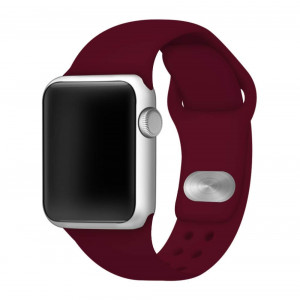 Affinity Bands Maroon Silicone Sport Band Compatible with Apple Watch - 3 Piece Set S/M and M/L (42mm/44mm)
