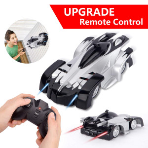 Remote Control Car - Sugoiti Upgrade Rechargeable Wall Climb with New Remote Control, Dual Modes 360 Degree Rotation Stunt Racing Vehicle LED Head Gravity-DefyingRC Car for Kids Adults