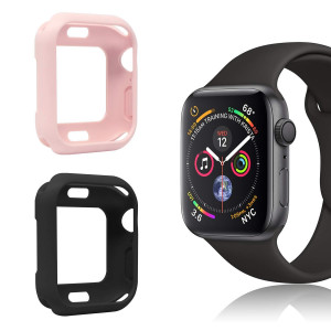 [2 Pack] MENEEA for Apple Watch Series 4 Case Protector, Ultra-Thin Anti-Scratch Flexible Case Soft Protective Cover for New Apple Watch Series 4 44mm, Replacement for iWatch case