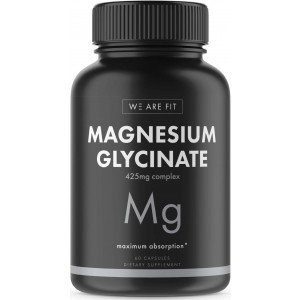 Magnesium Glycinate 425 mg Complex - High Absorption Mag Supplement to Support Magnesium Levels, Muscle Relaxation, Vegan and Non-GMO, 60 Veggie Caps