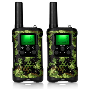 ieGeek Walkie Talkies for Kids, Two Way Radio 22 Channel 3 Miles Long Range Kids Walkie Talkies Boys Girls Toys Gifts Battery Powered Walky Talky with Flashlight for Outdoor Adventure Camping (Camo)