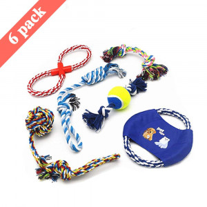 ANICOR Dog Rope Toys for Small and Medium Dogs Set of 6 Dog Toys Puppy Teething Chew Pet Rope Toy
