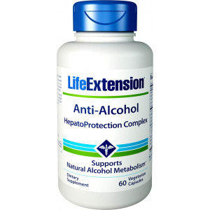 Life Extension Anti-Alcohol with Hepatoprotection Complex, 60 Vegetarian Capsules