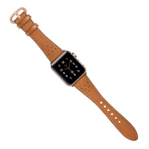 AMANECER Compatible for Apple Watch Band 38mm 40mm 42mm 44mm for Iwatch Bands Series 4 3 2 1 Women Girls Genuine Leather iWatch Bands