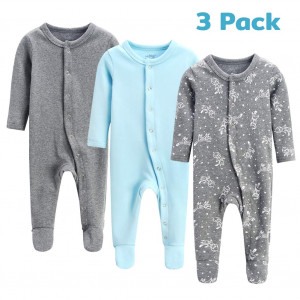 lifely Baby Pajamas Footed Baby Pajamas Cotton Infant Sleeper Footie Overall Pajama Set