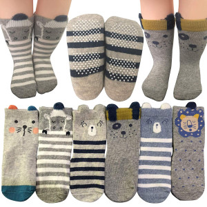 Baby Socks 6 Pairs Non Skid 12-36 Months Baby Boys Girls Toddler Anti Slip Skid Slipper Stretch Socks Footsocks Sneakers Socks