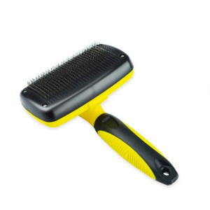 Zoneyee Pet Grooming Brush Self-Cleaning Slicker Brush Shedding Tools Hair Remover for Cats and Dogs