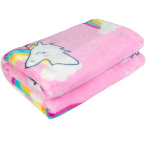 """Ghome Soft Baby Blanket and Unicorn Fuzzy Blanket,Made of 300GSM Flannel, Stroller or Toddler Bed Warm Minky Blanket 30""""x40"""""""