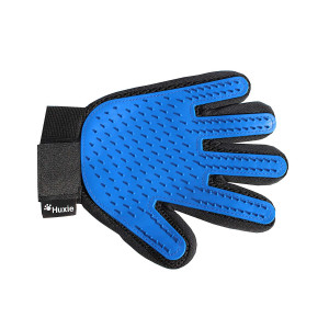 Huxie Pet Grooming Glove - Gentle Brush for Cats and Dogs to Reduce Shedding  Great Gift for Pet Lovers - Perfect for Short and Long Haired Pets  Comfortable Five Finger Mitt