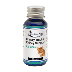BestLife4Pets Urinary Tract and Kidney Support for Cats; Natural homeopathic UTI Treatment Helps with Frequent Urination, Vomiting and Urine Infections, Improves Renal Health and Bladder Control