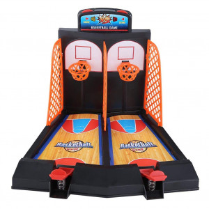 Basketball Game Educationabl Mini Basket Ball Double Finger Shooting Toy Set Funny Pinball Interactive Board Game for Kids Family