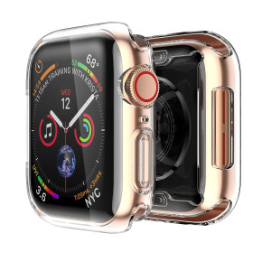 Smiling Apple Watch 4 Clear Case With Buit in TPU Screen Protector 40mm - All Around Protective Case High Definition Clear Ultra-Thin Cover Apple iwatch 40mm Series 4(2 pack)