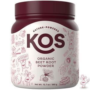 KOS Organic Beet Root Powder - Premium Raw Beet Root Powder USDA Vegan Plant Based Ingredient, 360g (12.7oz)