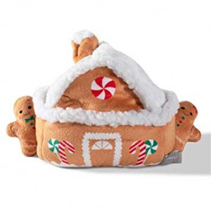 Pet Shop by Fringe Studio Gingerbread House with 3 Gingerbread Man Cookies Plush Dog Toy