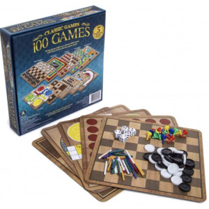 Classic Games 100 Games Box for Kids, Teens, Adults and Seniors